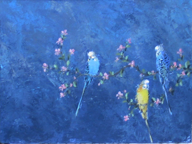 three_budgerigars_with_blossom