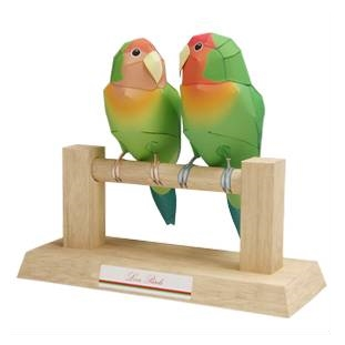 love-birds_parrot_papercraft
